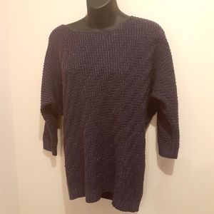 2 for$25- Warehouse One Purple Sweater, Size S